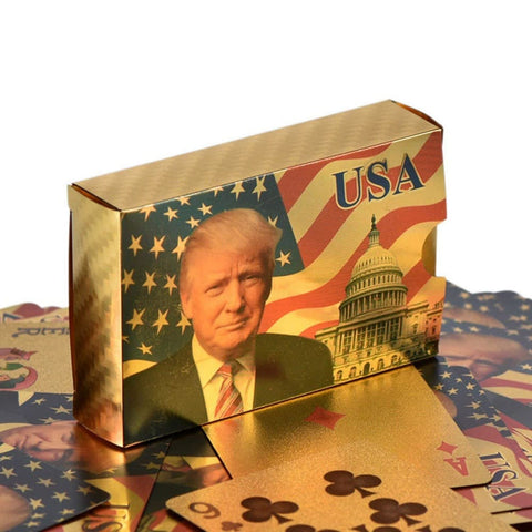 Donald Trump Playing Cards - 24K Gold-Plated Commemorative Collectors Edition - Games and Gifts