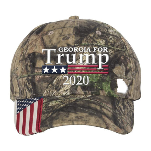 Georgia For Trump 2020 Hat - Mossy Oak Country