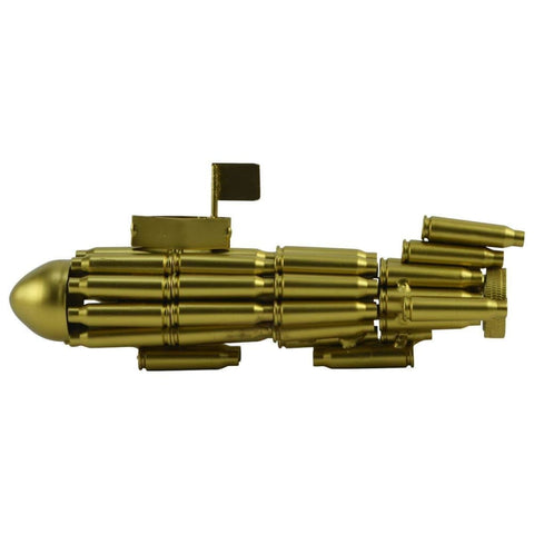 Gold Bullet Shell Navy Submarine - Art
