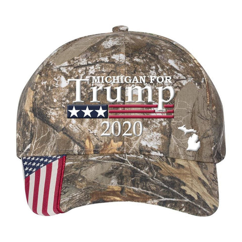 Michigan For Trump 2020 Hat - Mossy Oak Country