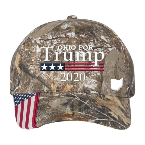 Ohio For Trump 2020 Hat - Mossy Oak Country