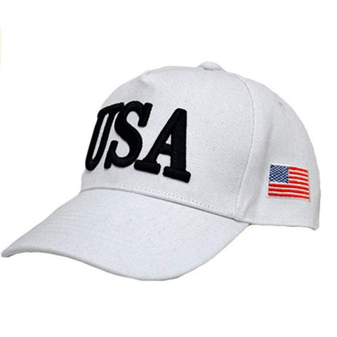 Popular USA Trump 45 American Flag Hat (Choose Your Color) - White