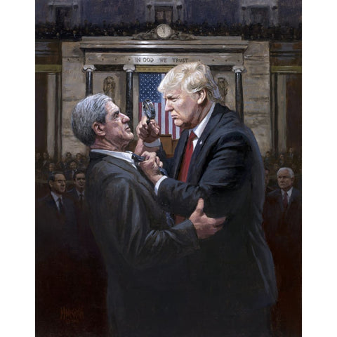 Trump EXPOSE THE TRUTH - Litho Print Of Original Painting (11 x 14)(No Frame)