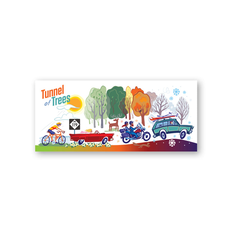 Tunnel of Trees M-119 Four Seasons Sticker