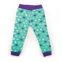 Dream Team sports-ball patterned purple and teal  PJ pants fits all 18 inch dolls.