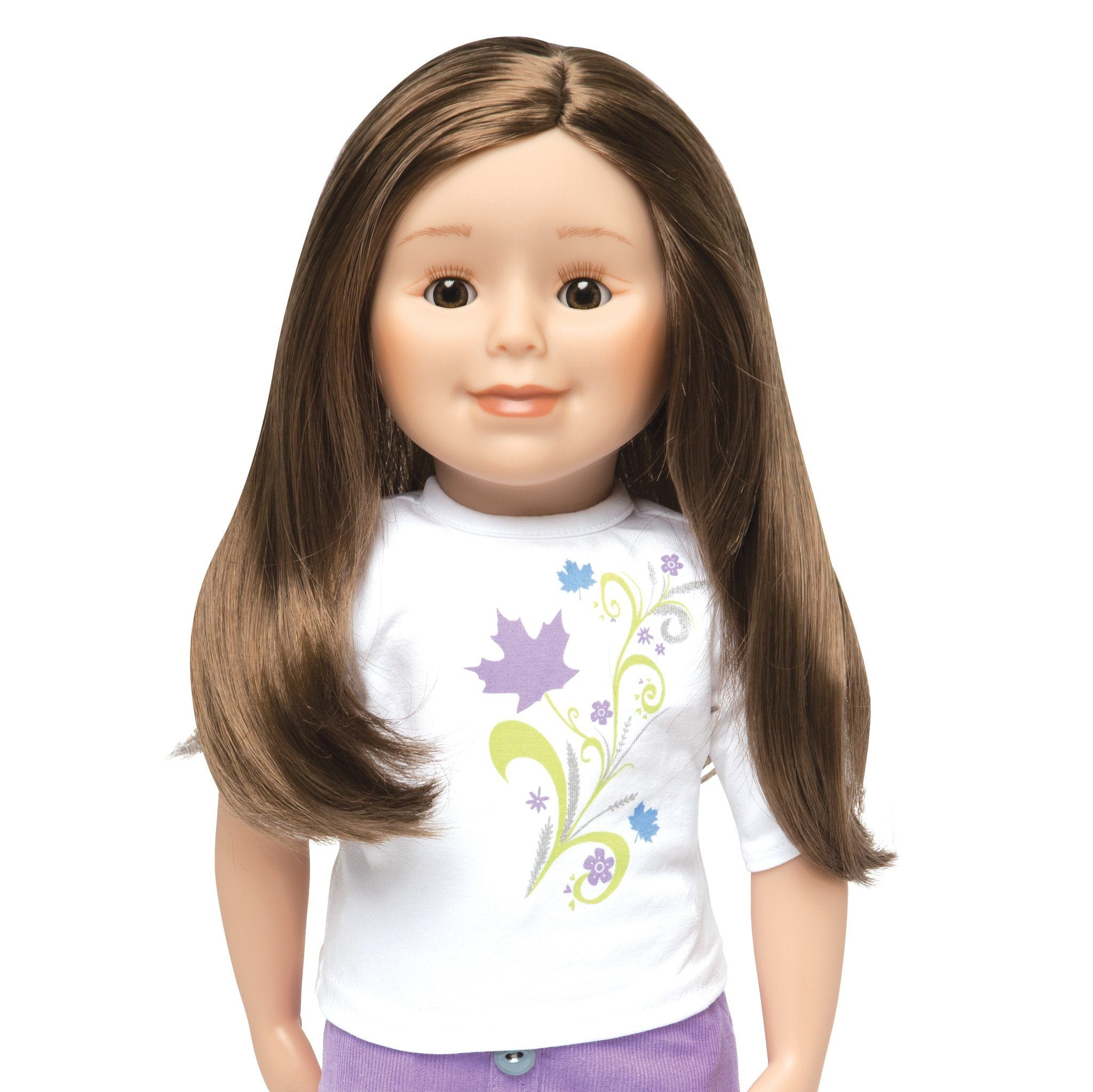 KMF18 Maplelea Friend 18 inch doll with long brown hair, light skin, brown eyes