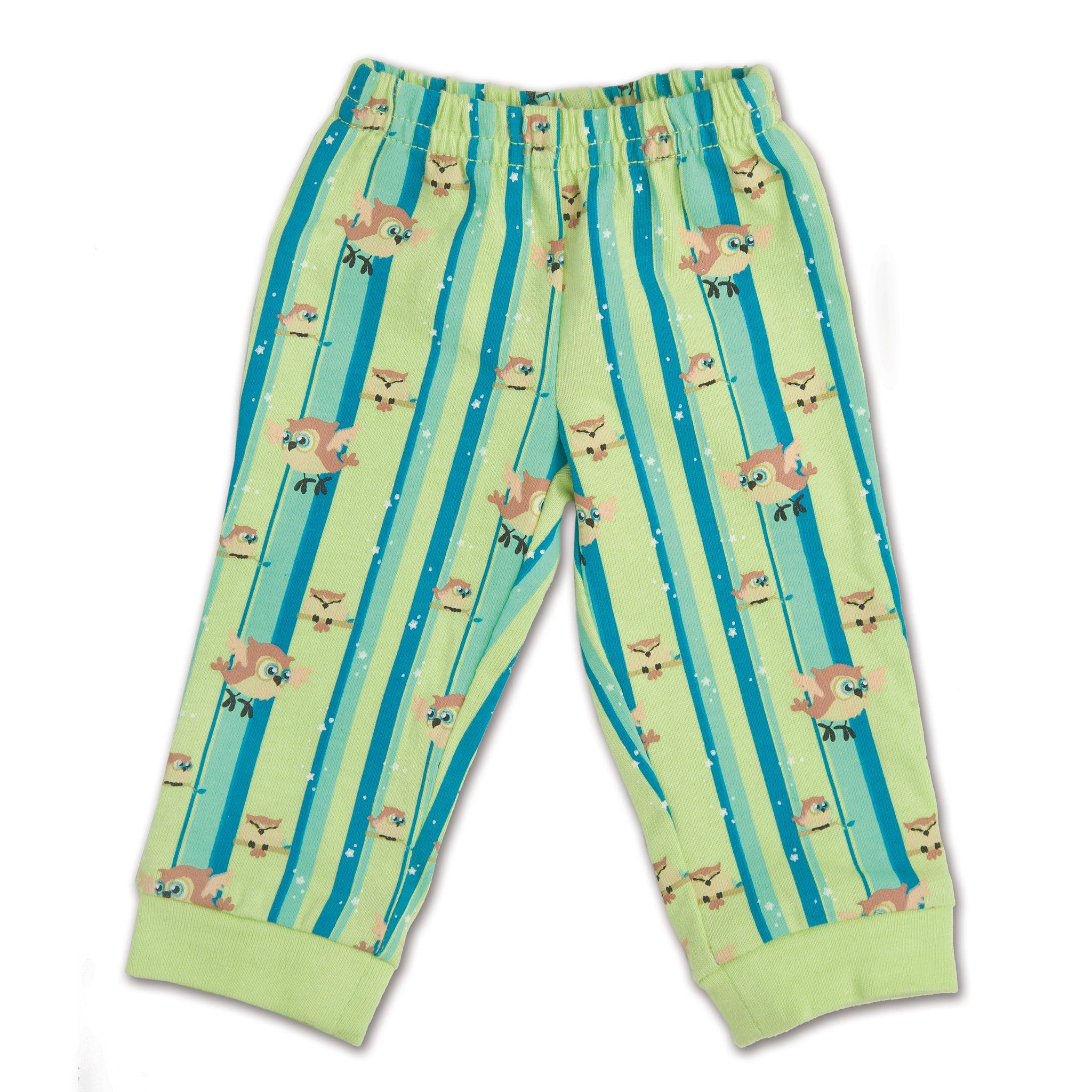 Night Owl Nightwear green and blue striped PJ pants fit all 18 inch dolls.