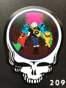 Grateful Dead Steal Your Face Jerry and Dancing Bears Sticker