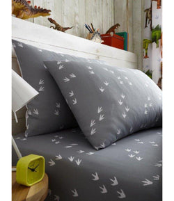 PRE ORDER DINOSAUR FEET Single fitted sheet & Pillowcase