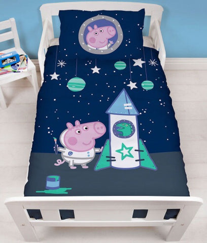 GEORGE PIG - Toddler Bed/Cot Quilt Cover Set