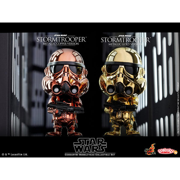 Hot Toys Stormtrooper (Metallic Color Version) COSBABY (S) Bobble-Head Collectible Set