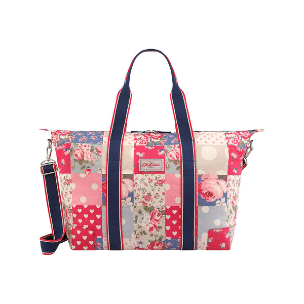 Cath Kidston Foldaway Overnight Bag - Patchwork Denim