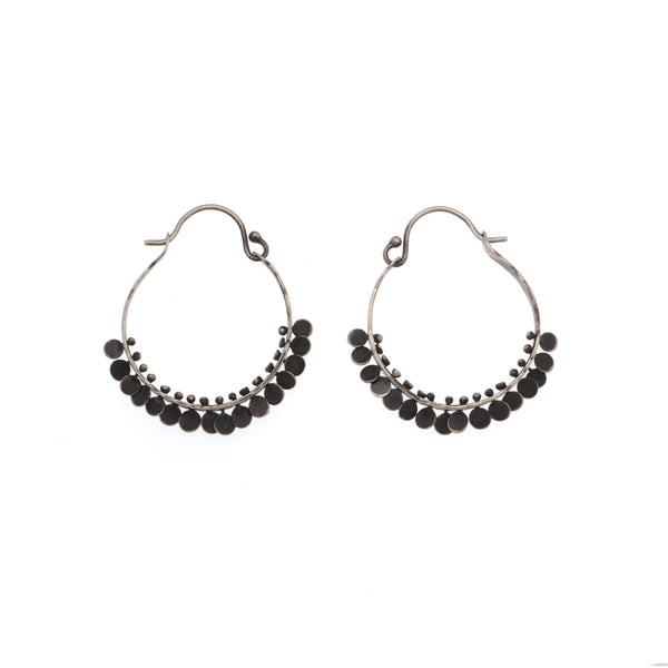 Medium Paillette Hoops