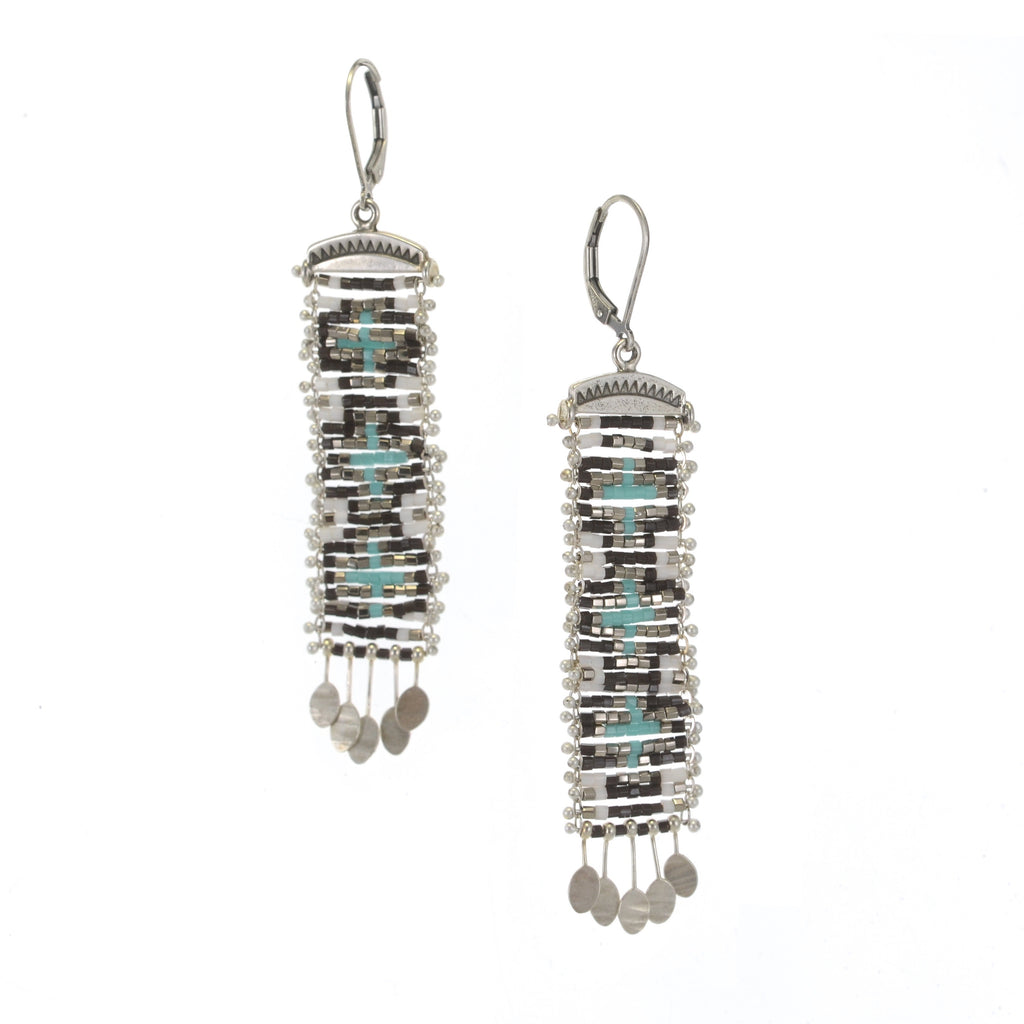 Cruces Earrings in Blue and Black