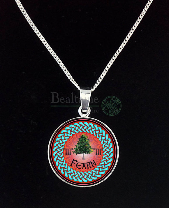 4. Silver Fearn - Alder Mar 18 To Apr 14 Red Pendant