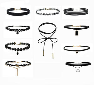 10 colliers chokers - HEXAGONE AVENUE