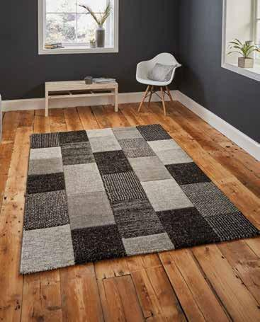 Brooklyn 21830 Grey/Black - Rug - Dream Floors and Furniture Ashton-Under-Lyne, Manchester