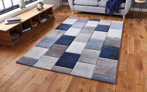 Brooklyn 21830 Grey/Blue - Rug - Dream Floors and Furniture Ashton-Under-Lyne, Manchester