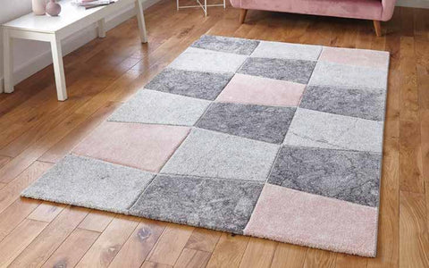 Brooklyn 22192 Grey/Rose - Rug - Dream Floors and Furniture Ashton-Under-Lyne, Manchester