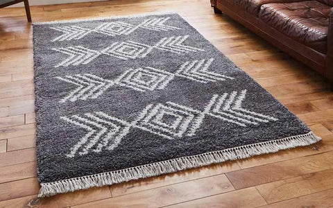 Boho 8886 Charcoal - Rug - Dream Floors and Furniture Ashton-Under-Lyne, Manchester