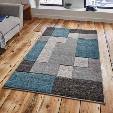 Matrix A0221 Grey/Blue - Rug - Dream Floors and Furniture Ashton-Under-Lyne, Manchester