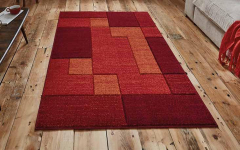 Matrix A0221 Red - Rug - Dream Floors and Furniture Ashton-Under-Lyne, Manchester