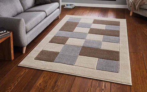 Matrix MT04 Beige/Grey - Rug - Dream Floors and Furniture Ashton-Under-Lyne, Manchester