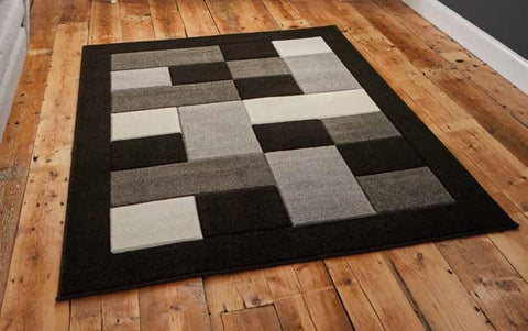 Matrix MT04 Black/Grey - Rug - Dream Floors and Furniture Ashton-Under-Lyne, Manchester