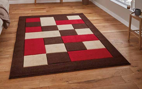 Matrix MT04 Brown/Red - Rug - Dream Floors and Furniture Ashton-Under-Lyne, Manchester
