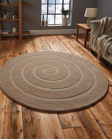 Spiral Beige - Rug - Dream Floors and Furniture Ashton-Under-Lyne, Manchester