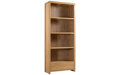 Curve Tall Bookcase - Furniture - Dream Floors and Furniture Ashton-Under-Lyne, Manchester