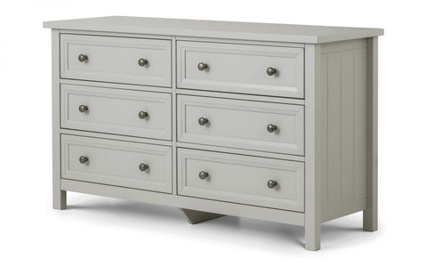 Maine 6 Drawer Wide Chest - Furniture - Dream Floors and Furniture Ashton-Under-Lyne, Manchester