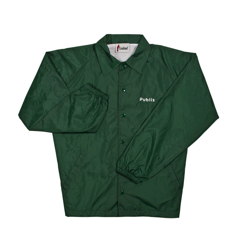 Lined Nylon Windbreaker - Dark Green