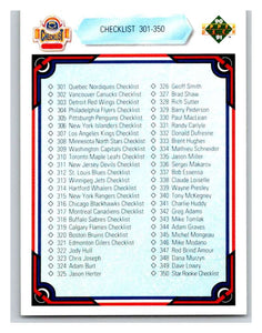 1990-91 Upper Deck #400 Checklist 301-400 Mint