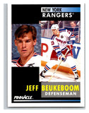 1991-92 Pinnacle #229 Jeff Beukeboom NY Rangers