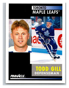 1991-92 Pinnacle #278 Todd Gill Maple Leafs
