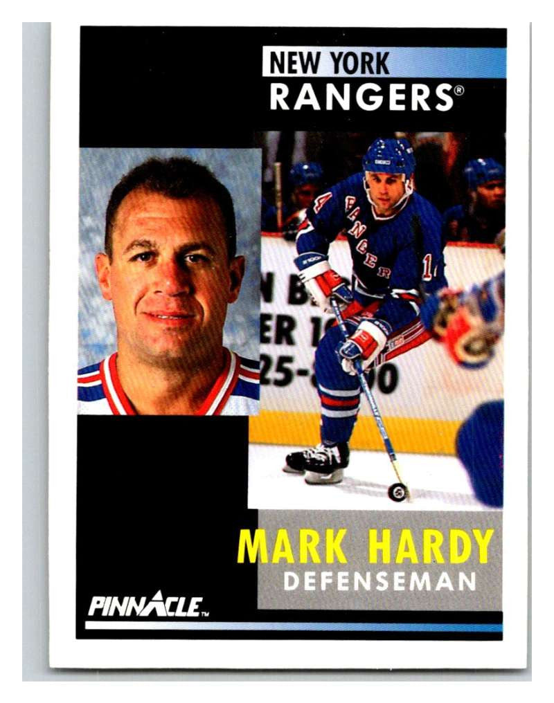 1991-92 Pinnacle #420 Mark Hardy NY Rangers