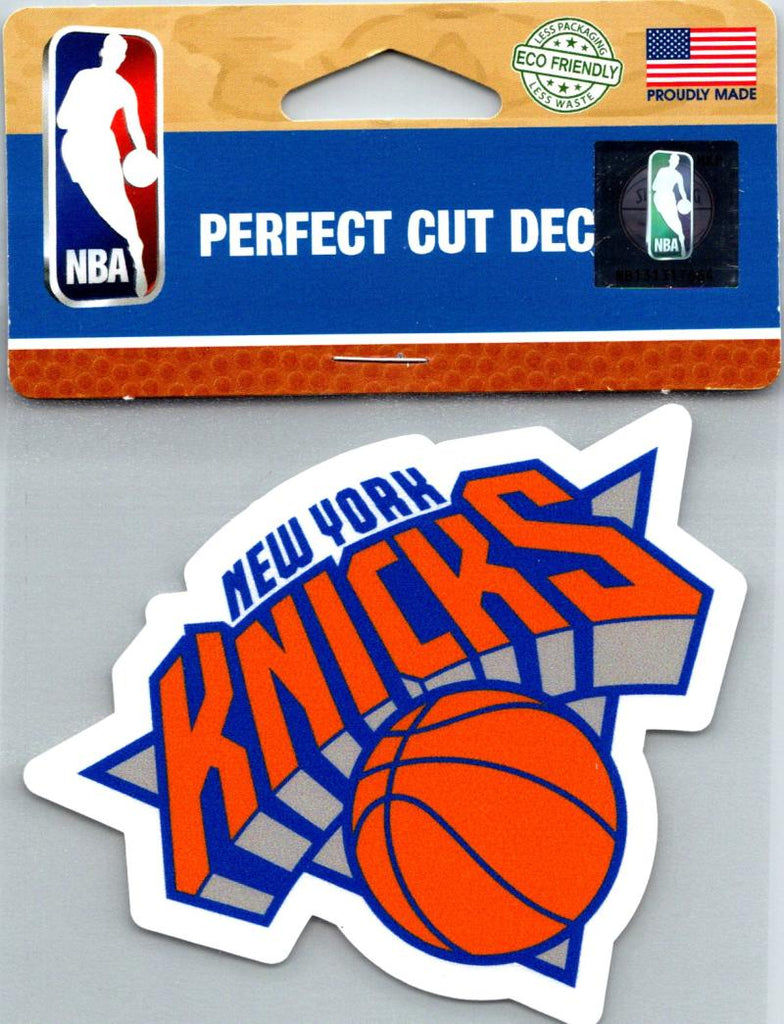 "(HCW) New York Knicks Perfect Cut Colour 4""x4"" NBA Licensed Decal Sticker"