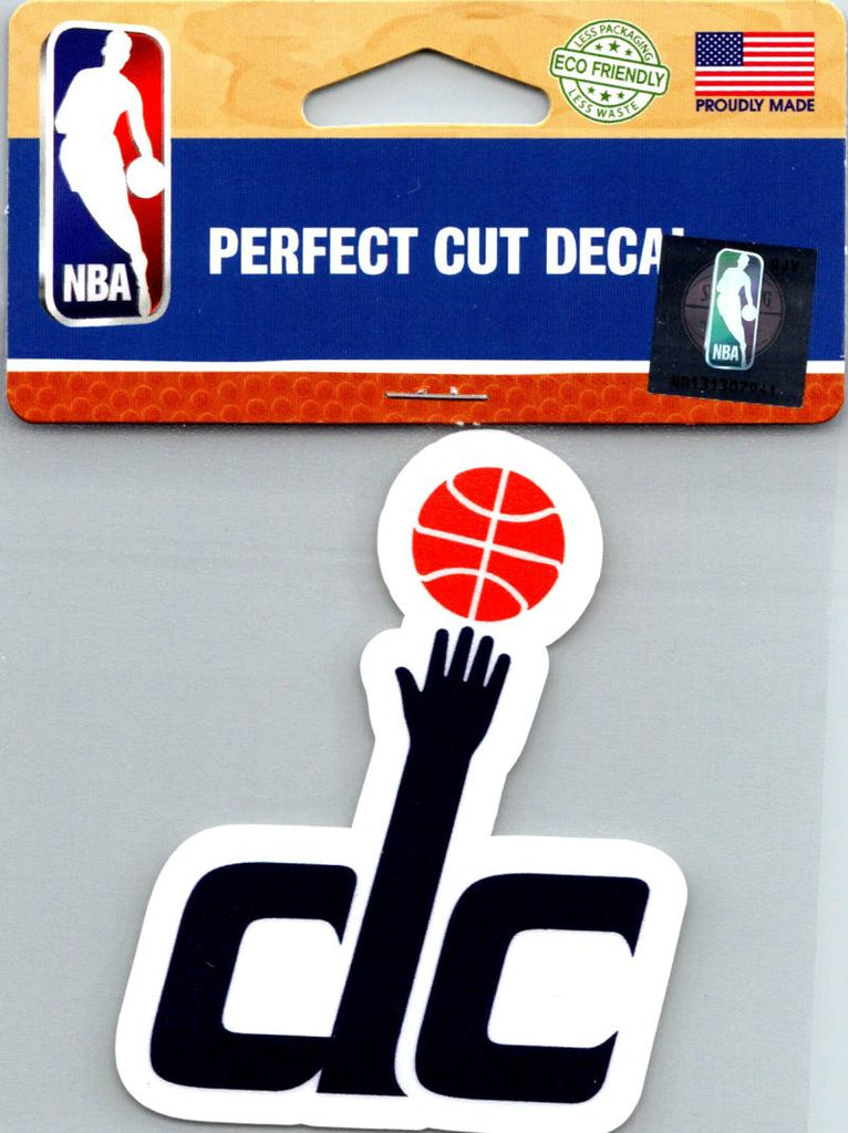 "(HCW) Washington Wizards Perfect Cut Colour 4""x4"" NBA Licensed Decal Sticker"