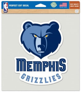 "Memphis Grizzlies Perfect Cut 8""x8"" Large Licensed NBA Decal Sticker"