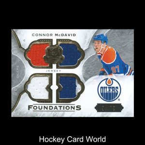 2015-16 Upper Deck The Cup CONNOR McDAVID 54/75 Foundations 3 color RC
