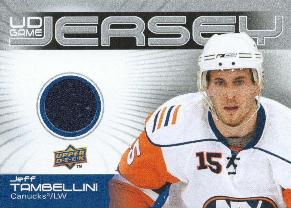 2010-11 Upper Deck Game Jersey JEFF TAMBELLINI UD NHL Material 00794