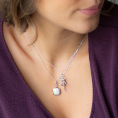 "Slim Cushion ""Viv"" Locket on Sterling Silver Chain"