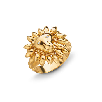 "18K yellow gold ""Courage"" Lion Ring"