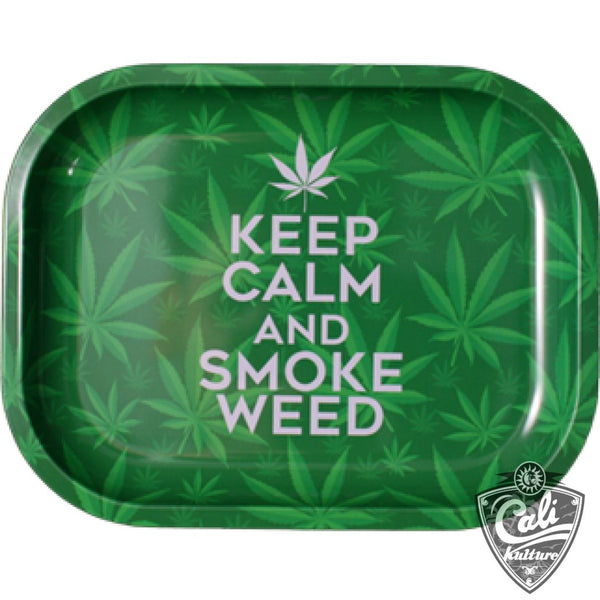 Smoke Arsenal Rolling Tray Small 7'' X 5.5'' - Keep Calm