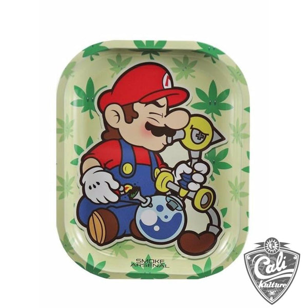 Smoke Arsenal Rolling Tray Small 7'' X 5.5'' - Mario
