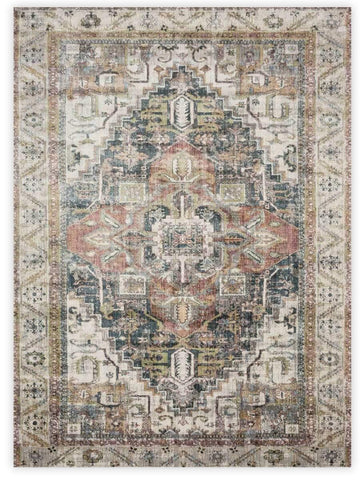 Antiquity - Grey Multi 1803J Machine Made Area Rug - Jordans Flooring