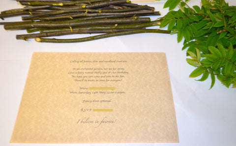 How To Make Fairy Scroll Party Invitations