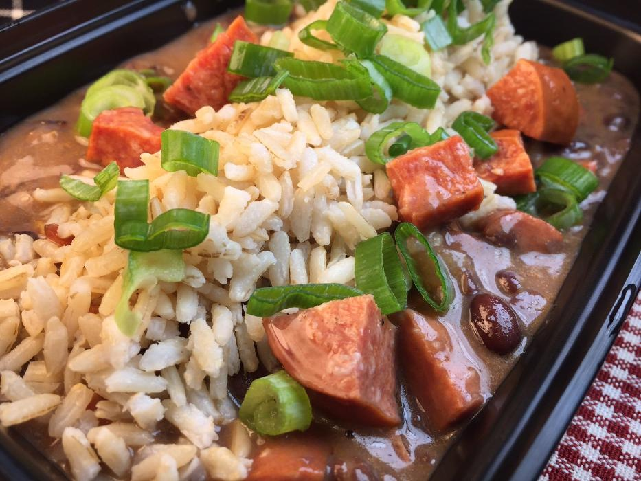 Black Beans and Rice with Andouille Sausage Prepared Meal