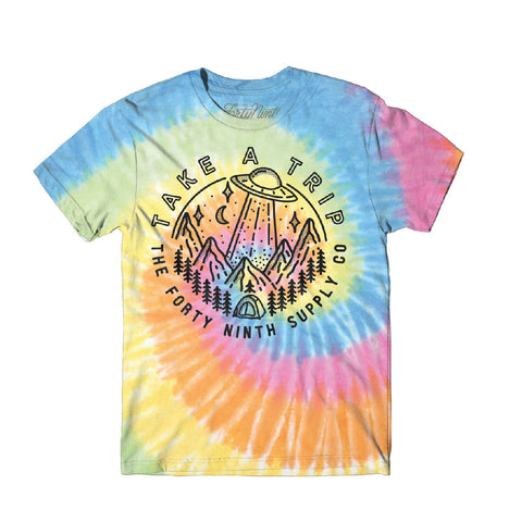 Take A Trip Tie Dye T-Shirt - Women